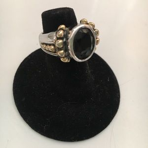 Jewelry - Black Onyx Ring. Chipped.